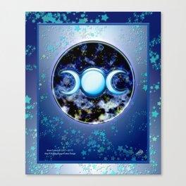Moon Symbol and Stars Canvas Print