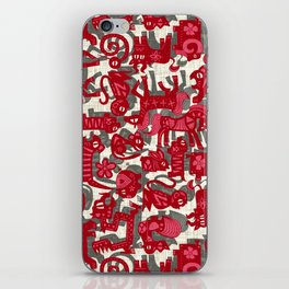 chinese animals red iPhone Skin