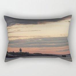 Painted sky over ten pound island light Rectangular Pillow
