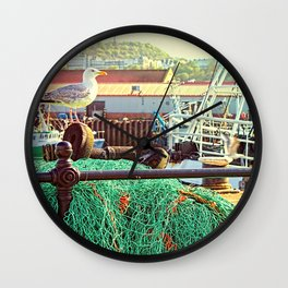 Busy Harbour Wall Clock