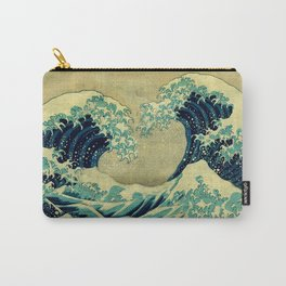 The Great Blue Embrace at Yama Carry-All Pouch