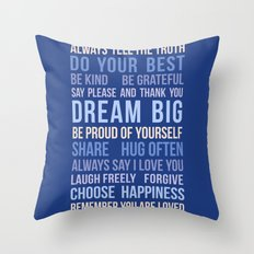 House Rules Throw Pillow
