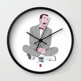 PEE-WEE HERMAN SMURF ICE CREAM Wall Clock