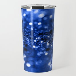 Blue Lady Glitter #1 #shiny #decor #art #society6 Travel Mug