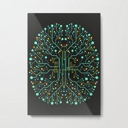 Brain Tech Metal Print