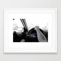 subaru Framed Art Prints featuring Subaru by Maggie Wheeler