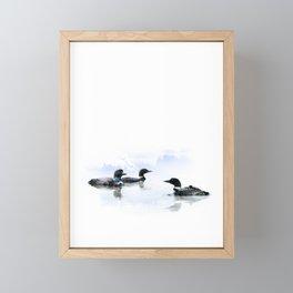 Loons Framed Mini Art Print