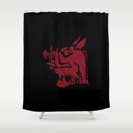 Black Knight Shower Curtain