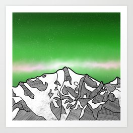 Hkakabo Razi Mountain Art Print