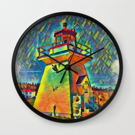 Coastal Maine Lighthouse Wall Clock