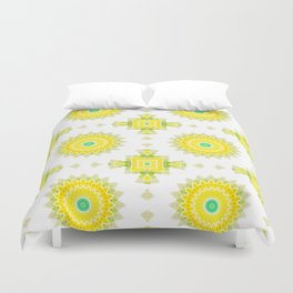 Geometrical ornamental textile pattern background Duvet Cover