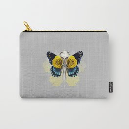 Bird skull and yellow roses Carry-All Pouch