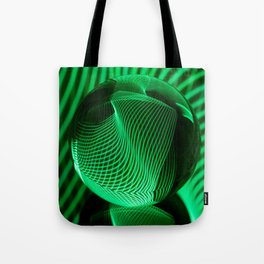 Green in the glass ball Tote Bag