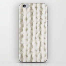 White Wool Knitting Texture iPhone Skin