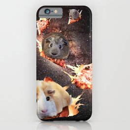 Galaxy Guinea Pig On Pizza - Space  iPhone Case