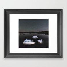 Boulders in Black Framed Art Print