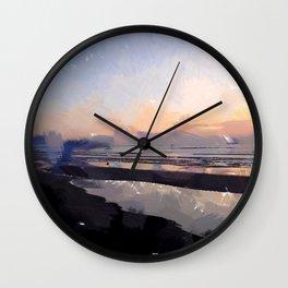 Abendstimmung am Meer Wall Clock