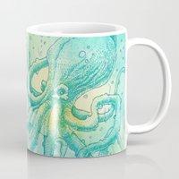 kraken Mugs featuring Kraken by pakowacz