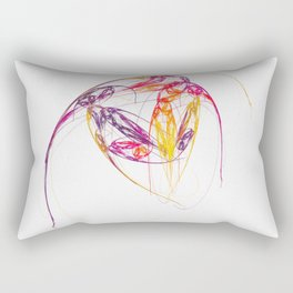 leichte Linien   (A7 B0134) Rectangular Pillow