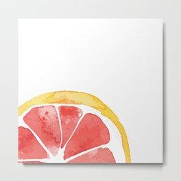 Red Citrus Metal Print
