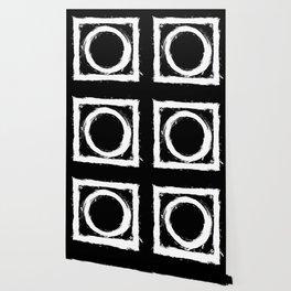 Black and white circle splatter Wallpaper