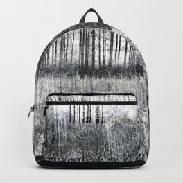 Black Winter Abstract Backpack