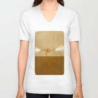 airbender V-neck T-shirts featuring Avatar Aang by daniel