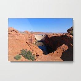 Glen Canyon Dam And Colorado River Metal Print