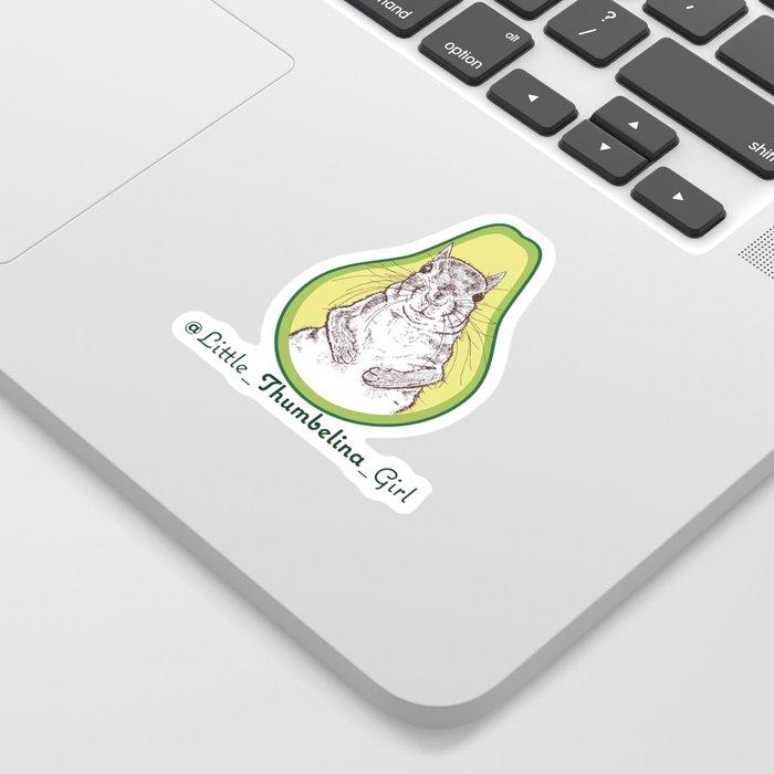 Little Thumbelina Girl: avocado Sticker