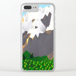 LALALA LANDSCAPE Clear iPhone Case