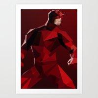 daredevil Art Prints featuring Daredevil by tophatmonster