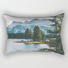 Two Jack Lake & Mt. Rundle Rectangular Pillow