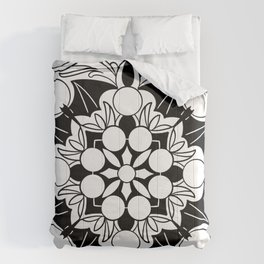 sacred bat mandala Comforters