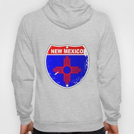 New Mexico Flag Icons As Interstate Sign Hoody