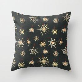 Black Stars Throw Pillow