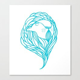 Zoobisak Lion Canvas Print