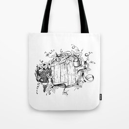 Wine in a barrel Tote Bag