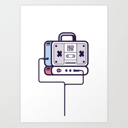 Audio system Art Print
