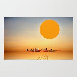 Horizon Sunset Orange Blue Rug