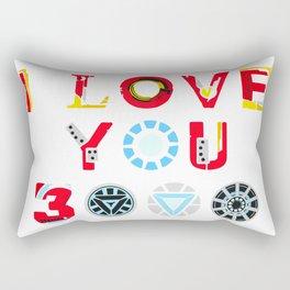 i love 3000 iron Rectangular Pillow