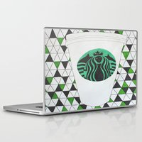 starbucks Laptop & iPad Skins featuring Starbucks Mermaid  by Clawson Creatives