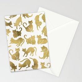 Cat Positions – Gold Palette Stationery Cards