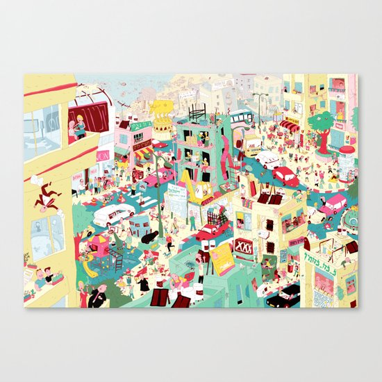 Ungeheuerlich Tel-Aviv Canvas Print