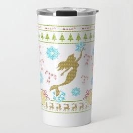 Mermaid Christmas Ugly Sweater Design Shirt Travel Mug