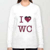 wesley bird Long Sleeve T-shirts featuring I Heart Wesley Crusher by Illustrated by Jenny