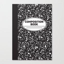 Composition Notebook College School Student Geek Nerd Canvas Print