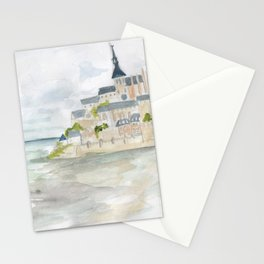 Visita to Mont Saint-Michel Stationery Cards