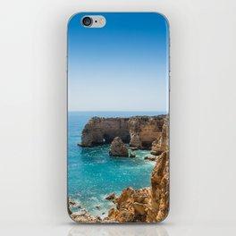 Beach at Lagoa, Algarve, Portugal II iPhone Skin