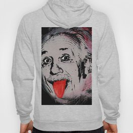 Albert Einstein and Tongue Funny Gift Science Hoody