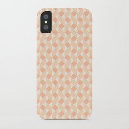 Geometric zigzag pattern iPhone Case